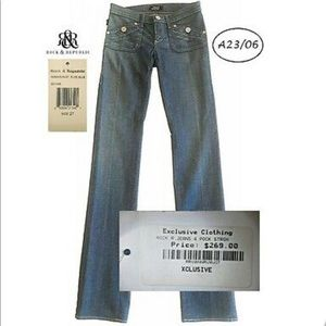 "Rock & Republic ""Gwen"" low-rise straight cut jeans"